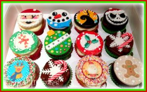 Dairy Free Christmas Cupcakes by gertygetsgangster