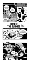 DAWN OF THE BUNNIES 1 and 2 by PacoAfroMonkey