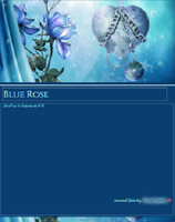 Blue Rose Journal Skin by MoonZaphire