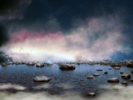 Lake stones premade BG by StarsColdNight
