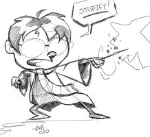 Harry Potter Sketch by thecheckeredman