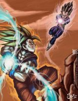 The Battle of Two Saiyajins by ZeitExmind