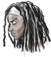 Michonne by StressedJenny