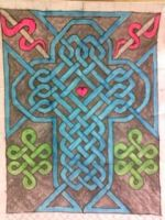 knotwork cross by Larcivus