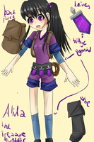Alida, the treasure hunter by kittimitti