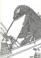 Godzilla vs The Daleks by SaintNick14