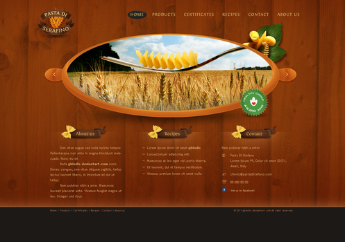 Pasta di serafino website by gbindis