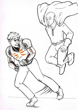 OPM Fight doodle by EverymanGirl