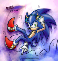 SONIC TH: Music is my escape by RainbowSpine