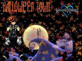 Halloween Town Sora Background by Pyro-360