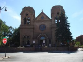 Santa Fe Cathedral by maryhelen