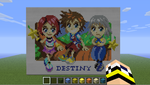 KH in Minecraft - Destiny Island Trio by kngdmhrts2
