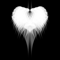 White Fractal Heart by dotgfx