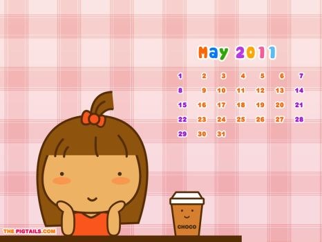 Pigtails Calendar May 2011 by jazgirl