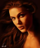 Digi. Paint: Keira Knightley by JustineArt
