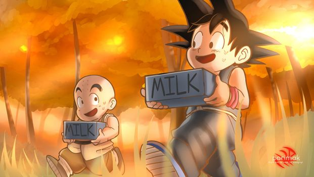 Goku and Krillin in training! by Parimak