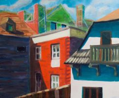 Architecture painting by dybicki