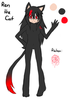 Ren the Cat Reference [without clothes] by Milchwoman