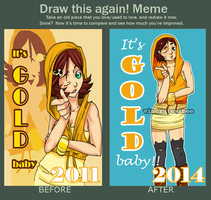 Draw This Again | It's GOLD baby by vinczu-evibee