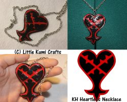 Heartless Necklace by lkcrafts