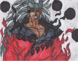 Rikudou Madara Again, this time in red by ChahlesXavier