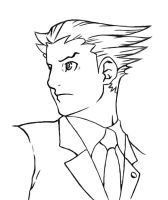 Phoenix Wright Coloring Page by HowToDrawManga3D