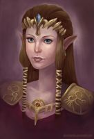 Zelda-portrait by AlineMendes