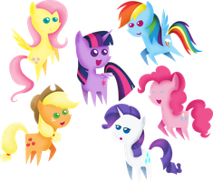 Chibi Mane 6 (Shading Edit) by CutesieArt
