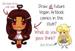 Is my art better this way? by veganartbook