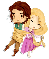 Flynn and Rapunzel - Commission by zillyhooo