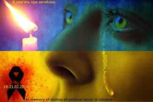 Ukraine: The memory of 100 victims by Lesya7