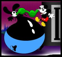 Oswald Rabbit Inflation. by Virus-20