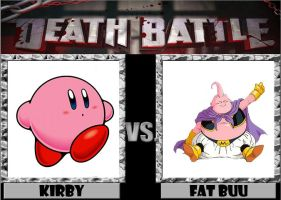 DEATH BATTLE! Kirby Vs Fat Buu by captainfranko