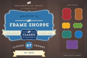67 Classic Frames (PSD with Paths) by Owl666PS