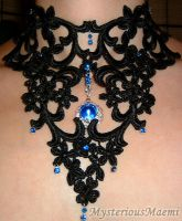 Gothic, Victorian blue choker by MysteriousMaemi