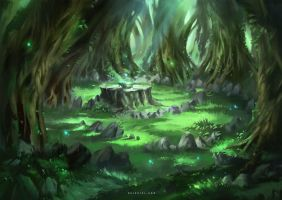 Magical Glade (time-lapse video) by Nele-Diel