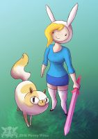 Fionna and Cake by Penny-Dragon