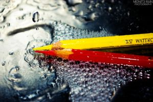 Color Pencils and Water Drops by FeelSoAlive