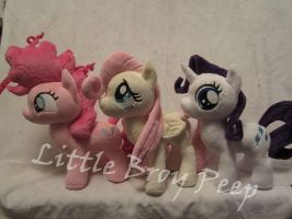 mlp fillies Pinkie pie Fluttershy and Rarity plush by Little-Broy-Peep