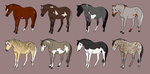 Adoptable Set 09 *DRAW TO ADOPT* by angry-horse-for-life