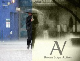 Brown Sugar Black and white Action by AnthonyVyner
