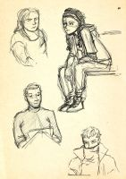 People Sketchin' by TessCas
