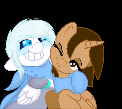 Underswap Sans and me by Queen-of-Fate