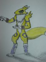 MK Renamon Colored by Undead-Battery