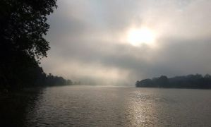 Foggy Morning on the River by OldBoogie