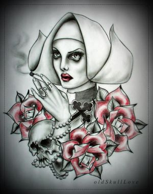 NUN tattoo design by MWeiss-Art