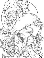 Santa Enigma issue 2 cover ink by Raikoh101