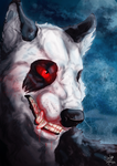 Red stained teeth by SheWolfey