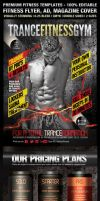 TranceFitness Flyer AD or Magazine Cover Template by ShermanJackson