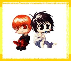 Deathnote Chibis by oOoThatJemmaGirloOo